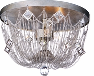 Maxim 30270SM Alessandra Silver Mist Flush Mount Lighting
