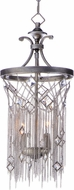 Maxim 30273SM Alessandra Silver Mist Mini Drop Lighting Fixture