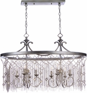Maxim 30277SM Alessandra Silver Mist Kitchen Island Lighting