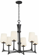 Maxim 30305NI-SHD308CV Anvil Natural Iron Hanging Chandelier
