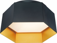 Maxim 30330BKGLD Honeycomb Contemporary Black / Gold LED Flush Mount Lighting