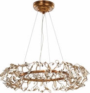 Maxim 30445CGGL Crystal Garden Contemporary Gold Leaf Xenon Hanging Lamp
