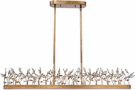 Maxim 30446CGGL Crystal Garden Modern Gold Leaf Xenon Kitchen Island Lighting