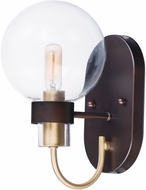 Maxim 30511CLBZSBR Bauhaus Modern Bronze / Satin Brass Wall Light Sconce
