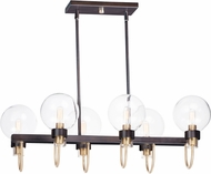Maxim 30519CLBZSBR Bauhaus Contemporary Bronze / Satin Brass Kitchen Island Lighting