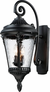 Maxim 3055WGBK Sentry Black Outdoor 15  Wall Light Sconce
