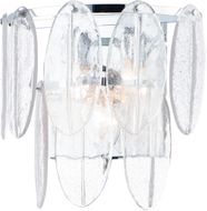 Maxim 30732CLWTPC Glacier Modern White / Polished Chrome Wall Light Fixture