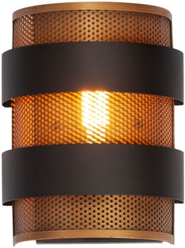 Maxim 31201OIAB Caspian Contemporary Oil Rubbed Bronze / Antique Brass Wall Sconce Lighting