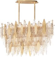 Maxim 32326CLCMPGL Majestic Contemporary Gold Leaf Kitchen Island Light