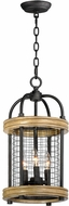 Maxim 32383DWBK Lancaster Modern Driftwood / Black Foyer Lighting Fixture