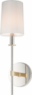 Maxim 32391OFSBRPN Uptown Transitional Satin Brass / Polished Nickel Wall Mounted Lamp