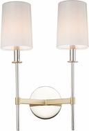 Maxim 32392OFSBRPN Uptown Transitional Satin Brass / Polished Nickel Wall Light Sconce