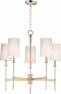 Maxim 32395OFSBRPN Uptown Transitional Satin Brass / Polished Nickel Chandelier Lighting