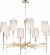 Maxim 32398OFSBRPN Uptown Transitional Satin Brass / Polished Nickel Lighting Chandelier