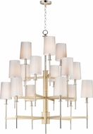 Maxim 32399OFSBRPN Uptown Transitional Satin Brass / Polished Nickel Chandelier Lamp