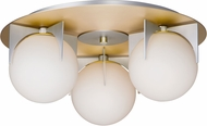 Maxim 32470SWSBRBP Finn Contemporary Satin Brass / Brushed Platinum Overhead Lighting
