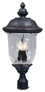 Maxim 3420WGOB Carriage House DC Traditional Oriental Bronze 26.5 Tall Outdoor Lamp Post Light