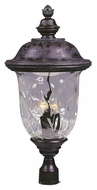 Maxim 3421WGOB Carriage House DC Traditional Oriental Bronze 14 Wide Exterior Lighting Post Light