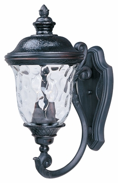 Maxim 3423WGOB Carriage House DC Traditional Oriental Bronze 9 Wide Exterior Wall Sconce