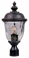 Maxim 3426WGOB Carriage House DC Traditional Oriental Bronze 19.5 Tall Outdoor Lamp Post Light Fixture