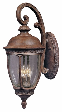Maxim 3464CDSE Knob Hill DC Traditional Sienna 8 Wide Exterior Light Sconce