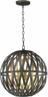 Maxim 35054BZGTGLD Weave Contemporary Bronze Gilt and Gold LED Ceiling Light Pendant