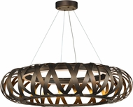 Maxim 35055BZGTGLD Weave Contemporary Bronze Gilt and Gold Drop Ceiling Lighting
