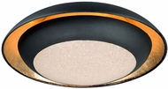 Maxim 35072CYGLBK Iris Modern Gold Leaf / Black LED 12  Flush Lighting
