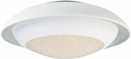 Maxim 35072CYSLWT Iris Contemporary Silver Leaf / White LED 12  Flush Mount Lighting
