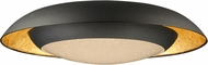 Maxim 35074CYGLBK Iris Modern Gold Leaf / Black LED 24  Overhead Lighting
