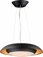 Maxim 35075CYGLBK Iris Modern Gold Leaf / Black LED Pendant Light