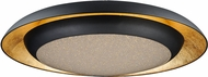 Maxim 35078CYGLBK Iris Modern Gold Leaf / Black LED 30  Flush Mount Lighting Fixture