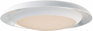 Maxim 35078CYSLWT Iris Contemporary Silver Leaf / White LED 30  Flush Ceiling Light Fixture