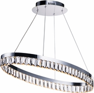 Maxim 38376BCPC Icycle Polished Chrome LED Ceiling Pendant Light