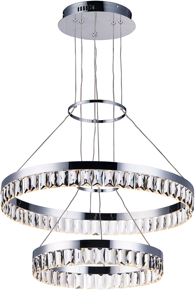 maxim 38377bcpc icycle polished chrome led drop ceiling light fixture loading zoom - Led Drop Ceiling Lights