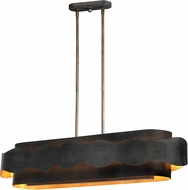 Maxim 38397BZGTGLD Flow Modern Bronze Gilt and Gold Kitchen Island Light Fixture