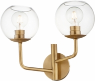 Maxim 38412CLNAB Branch Contemporary Natural Aged Brass Wall Sconce Light