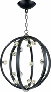 Maxim 39104BCTXBPN Equinox Textured Black / Polished Nickel LED 25  Hanging Light Fixture