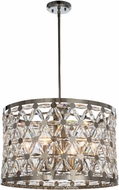 Maxim 39505BCPN Cassiopeia Polished Nickel Drum Pendant Lighting Fixture