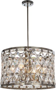Maxim 39505BCPN Cassiopeia Polished Nickel Drum Hanging Lamp