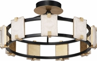 Maxim 39530CYBKGL Radiant Contemporary Black / Gold Leaf LED Home Ceiling Lighting