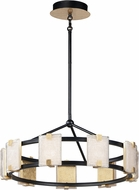 Maxim 39535CYBKGL Radiant Contemporary Black / Gold Leaf LED 27  Drum Pendant Lighting