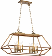Maxim 39547HZBRG Woodland Hazel / Burnished Gold Kitchen Island Light