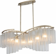 Maxim 39579WFLGS Victoria Contemporary Golden Silver Kitchen Island Light Fixture
