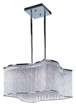 Maxim 39705CLPC Swizzle Large 25 Inch Diameter Contemporary Hanging Lamp - Polished Chrome