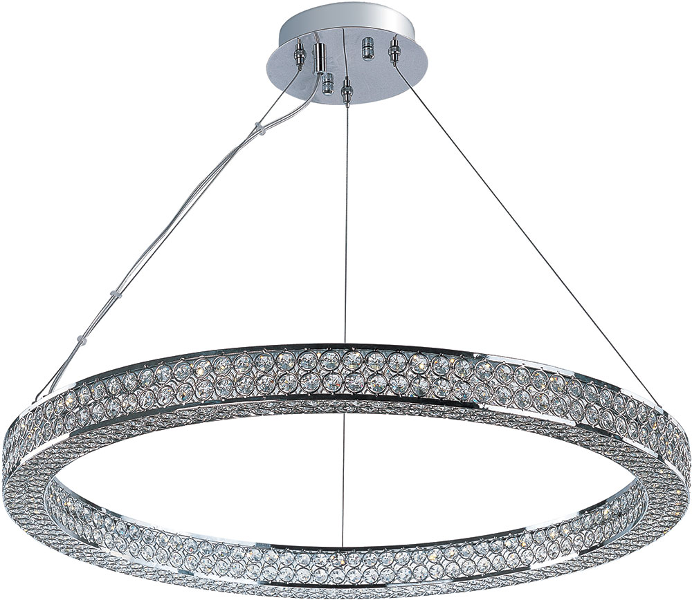 Maxim 39773BCPC Eternity Polished Chrome LED Pendant Light Fixture ...