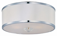 Maxim 39821BCWTPC Metro 15 Inch Diameter Modern Polished Chrome Semi Flush Mount Lighting