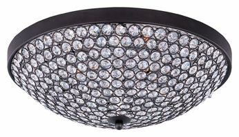 Maxim 39871bcbz Glimmer Flush Mount 15 Inch Diameter Bronze Ceiling Light With Beveled Crystals Small Max