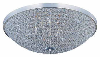 Maxim 39872BCPS Glimmer Flush Mount Medium 19 Inch Diameter Plated Silver Ceiling Light