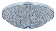 Maxim 39873BCPS Glimmer Large Plated Silver Finish Crystal Flush Ceiling Light Fixture